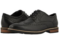 Nunn Bush Oakdale Wingtip Oxford With Kore Walking Comfort Technology Black Tumbled Lace Up Wing Tip Shoes