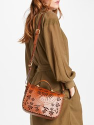 And Or Isabella Leather Cutwork Shoulder Bag Tan