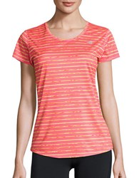 New Balance Striped Athletic Tee Guava