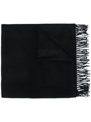 Begg And Co Fringed Cashmere Scarf Black