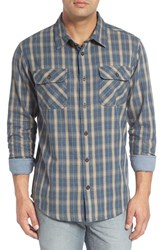 O'neill Men's Jack 'Oceanfront' Regular Fit Double Pocket Check Shirt Indigo