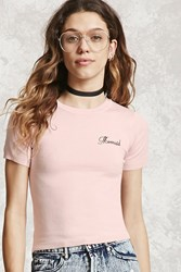 Forever 21 Mermaid Embroidered Top Pink Onerror Javascript Fnremovedom 'Colorid_01'