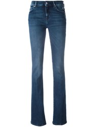 7 For All Mankind Stonewash Effect Bootcut Jeans Blue