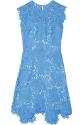 Catherine Deane Flared Guipure Lace Dress Light Blue