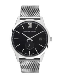 Larsson And Jennings Saxon 39Mm Watch Silver Black