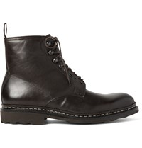 Heschung Hetre Leather Boots Dark Brown