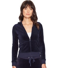 Juicy Couture Fairfax Velour Jacket Regal Women's Coat Navy