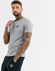 Puma Essentials T Shirt With Small Logo In Grey
