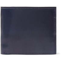 George Cleverley Horween Shell Cordovan Leather Billfold Wallet Navy