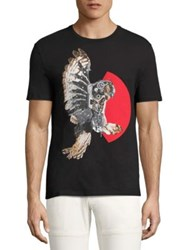 Neil Barrett Mechanical Owl Printed Tee Multicolor