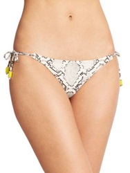 Vix Swimwear Snakeskin Print String Bikini Bottom Multi