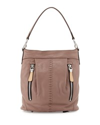Marlene Leather Shoulder Bag Mushroom Brown Oryany