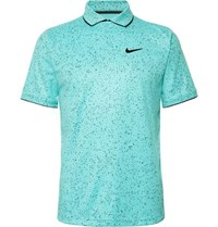 Tennis Nikecourt Contrast Tipped Printed Dri Fit Tennis Polo Shirt Turquoise