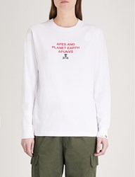 Aape By A Bathing Ape Neo Rock Cotton Jersey Top White