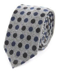 Scotch And Soda Grey Dotted Silk Tie