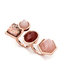 Eddie Borgo Rose Golden Plated Two Finger Composition Ring