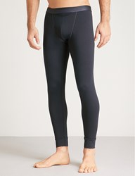 Hom Ho1 Stretch Cotton Slim Fit Leggings Navy