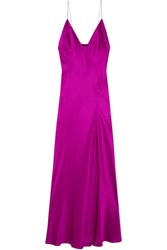 Haider Ackermann Silk Satin Maxi Dress Bright Pink