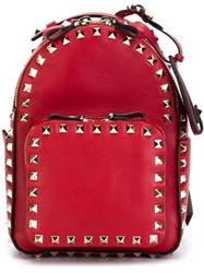 Valentino Garavani 'Rockstud' Backpack Red