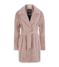 Juicy Couture Brushed Wool Coat Female Pink