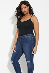 Forever 21 Plus Size Cotton Blend Cami Black
