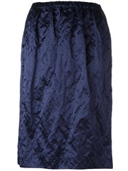 Jil Sander Ruched Effect Skirt Blue