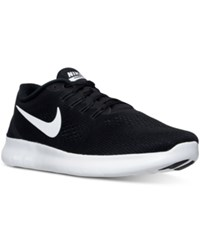Nike Women's Free Running Sneakers From Finish Line Black White Anthracite