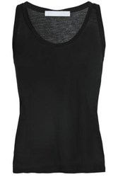 Kain Label Beryl D Grad Stretch Cotton And Modal Blend Tank Black