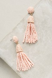 Anthropologie Artemis Tassel Drop Earrings Pink