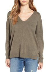 Leith V Neck Sweater Green