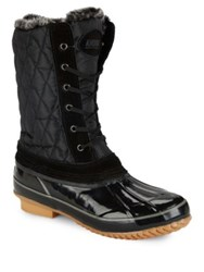 Khombu Bridget Faux Fur Trimmed Duck Boots Wine