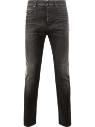 Balmain Low Rise Slim Jeans Black