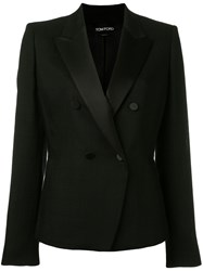 Tom Ford Double Breasted Blazer Black