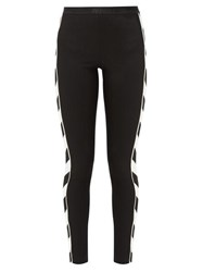 Off White Diag Stretch Leggings Black