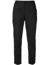 Dolce And Gabbana Polka Dot Cropped Trousers Black