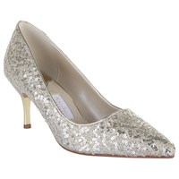 Rainbow Couture Vita Glitter Covered Court Shoes Silver