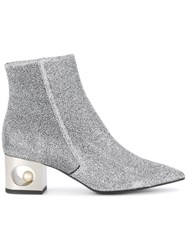 Coliac Metallic Ankle Boots Silver