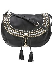 Sonia Rykiel Embellished Shoulder Bag Black