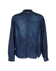 White Mountaineering Denim Shirts Blue