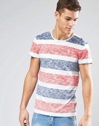 Esprit Reverse Stripe T Shirt Red
