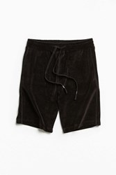 Urban Outfitters Uo Velour Pierce Short Black