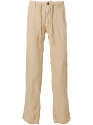 Woolrich Slim Fit Trousers Nude And Neutrals