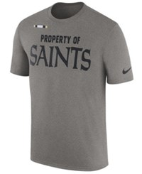 Nike Men's New Orleans Saints Property Of Facility T Shirt Heather Gray