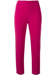 Gianluca Capannolo Slim Fit Cropped Trousers Pink And Purple