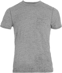 John Varvatos Star U.S.A. Burnout Tee Light Grey
