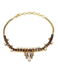 Erickson Beamon Born Again Faux Pearl And Crystal Choker Gold