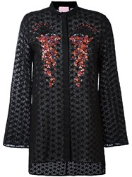 Giamba Embroidered Shirt Black