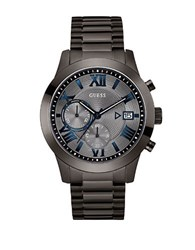 Guess Iconic Atlas Gunmetal Tone Stainless Steel Chronograph Bracelet Watch Grey
