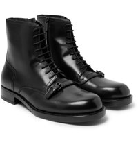 Bottega Veneta Polished Leather Boots Black