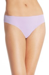 Women's Halogen 'No Show' Thong Purple Feminine